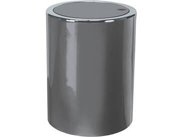 Kleine Wolke 5829977858 Poubelle à Couvercle Clap 5l en Platine, Plastique, 40x30x10 cm