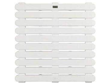 WENKO 22945100 Caillebotis de douche Blanc, Plastique, 55 x 55 cm