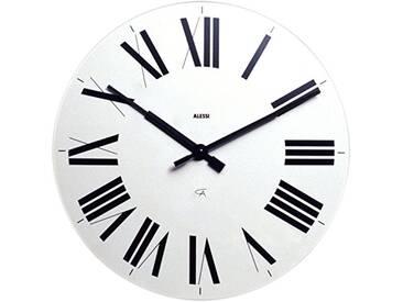 Alessi 12 W Firenze Horloge Murale en Abs, Blanc, Mouvement Au Quartz