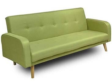 MLC Canapé clic-clac Goteborg Vert Lime Convertible Style scandinave