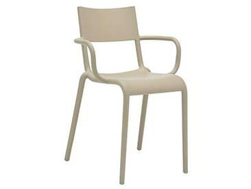 Kartell Generic A Set de Deux chaises, Plastique, Orange, 79 x 52,5 x 52 cm