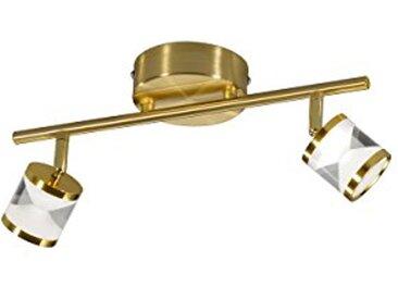 Trio Leuchten Levisto Suspension à LED, 2er-Balken Messing matt 4.5 wattsW