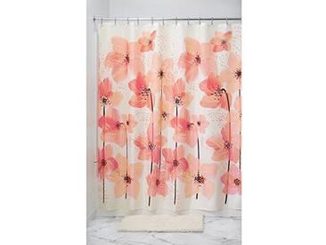 InterDesign Blossom rideau douche, grand rideau baignoire de 183,0 cm x 183,0 cm en polyester tissu doux, rideau salle de bain design, rose