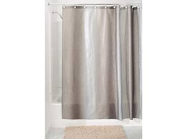 InterDesign Ombre rideau de douche avec œillets, rideau bain design en polyester avec un dégradé de couleurs, marron clair