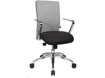 Topstar Chaise de Bureau Commander avec accoudoirs R2, Tissu, Anthrazit/Hellgrau, 55.0 x 56.0 x 111.0 cm