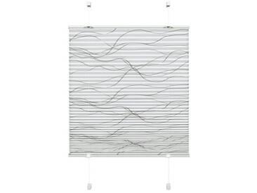 Gardinia Store plissé à clipser, Opaque, Kit de Pose inclus, EASYFIX Katy Wave, Store Plissé à 2 Rails, Blanc, 100 x 130 cm (L x H)