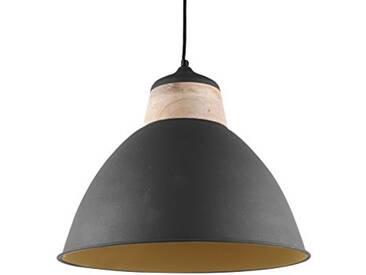 Leitmotiv LM1475 Lampe à Suspension Métal, 40 W, Noir, Taille L