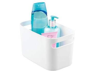 InterDesign Una boite stockage, petite caisse de rangement en plastique pour le ménage et passetemps, blanc