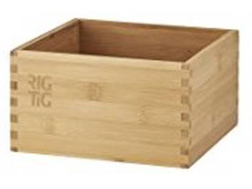 RIG-TIG by Stelton zpr3–1Woodstock Boîte de Rangement–Petit, Bambou, Marron, 18x 18x 10cm