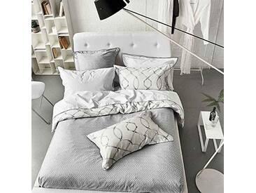 Designers Guild Rabeschi Housse de Couette, Satin de coton, Graphite, 260x240 cm