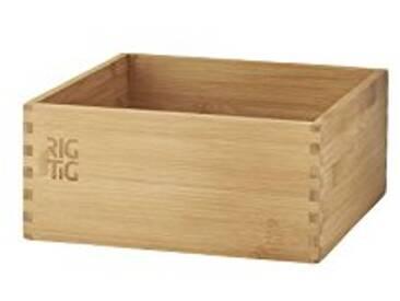 RIG-TIG by Stelton zpr3–2Woodstock Boîte de Rangement–Grand, Bambou, Marron, 10x 22x 22cm