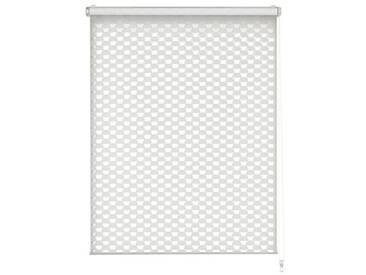 GARDINIA Store Double Enrouleur à clipser ou à coller - Store double enrouleur / Store avec enrouleur latéral - Transparent et opaque - Kit de montage inclus - Cercle de découpe - Blanc - 100 x 150 cm (LxH)