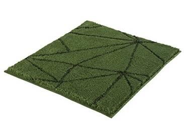 Kleine Wolke Textilgesellschaft 4087657539 Tapis de Bain, Polyacrylique, Vert Foncé, 55 x 65 x 2 cm
