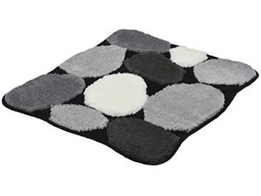 Kleine Wolke 8972926331 Stone Tapis de bain Noir 65 x 55 cm