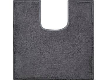 Grund Tapis de Bain Linea Due, 100% polyacrylique, Ultra Doux, antidérapant, certifié Öko-Teх, Flash, Coton, Manhattan - Anthrazit, 55x55 cm WC