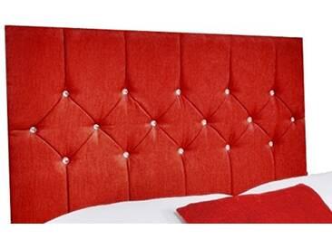Interiors 2pour u Double Belle Chenille Diamante Cristal/tête de lit, 4cm 15cm, Rouge