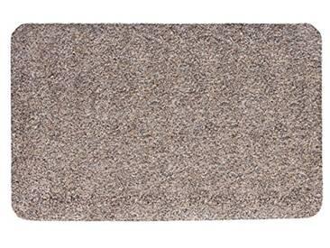 andiamo 700607 Paillasson Samson uni 50 x 80cm en coton, lavable à 30°C, Coton, granite, 50 x 80 cm