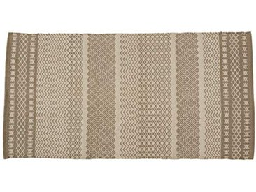 Jute & Co. Tapis Amalfi Moquette, Colour-Grey, 100% Coton, Multicolore Gris Taille Unique