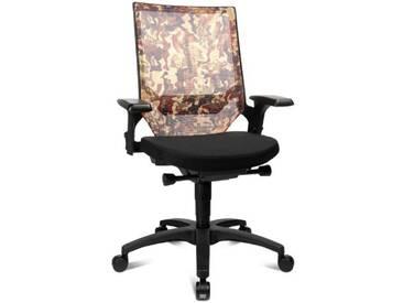 Topstar AU400AGC5 Camouflage Autosyncron Urban Chaise de Bureau Noir/Marron 46 x 48 x 112 cm