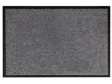 andiamo 700625Paillasson/Tapis de Porte, uni, Gris, 60 x 90 cm