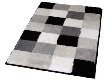 Kleine Wolke 5426926453 Tapis de bain Carreaux 85 x 150 cm Noir