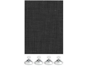 Gardinia, Store enrouleur occultant, Opaque, Comprenant 6 ventouses, Noir, 60 x 120 cm (L x H)
