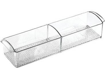 InterDesign Med+ boite à pharmacie, boite à médicaments en plastique, pilulier avec poignées, transparent