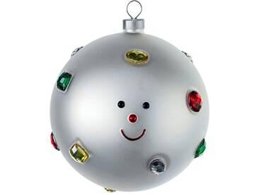 Alessi Amj13 15 Fioccodineve Boule de Noël en Verre Soufflé, decorée à la Main, Set de 4 Pièces