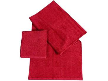 Dyckhoff 410932505 Brilliant Lot de 2 Serviettes essuie-Mains Rouge Cerise 100 x 50 cm