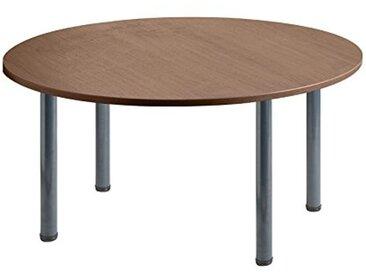 Eliza Tinsley Furniture T-MOD/1200C/GW 1200mm Circulaire en Noyer Table Versa avec Cadre Marteau Gris