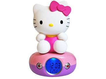 Teknofun 811169 Lampe Décorative - Fonctions Horloge Numérique Et Connexion Musicplayer - Hello Kitty Assise