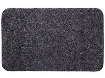 andiamo 700607 Paillasson Samson uni 50 x 80cm en coton, lavable à 30°C, Coton, anthracite, 40x60 cm