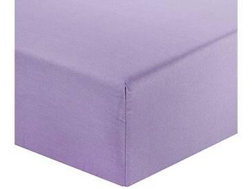 Designers Guild - Saraille Heather Drap Housse Satin de Coton Violet 90 x 190 cm