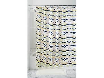 InterDesign Zana rideau de douche textile, rideau imperméable 183,0 cm x 183,0 cm avec design géométrique, en polyester, couleurs pastel