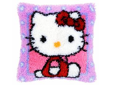 Kit coussin au point noué Hello Kitty
