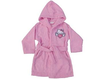 CTI 042729 Hello Kitty Wings Peignoir Coton Bouclette Rose 2/4 Ans