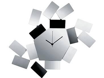 Alessi MT19 Horloge Murale Acier Inoxydable, Silber, 27 x 1,67 x 15,5 cm