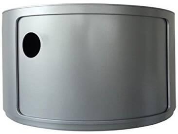 Kartell 4953SI baukastenelement quélément Rond diamètre 42 x 23,5 cm-aBS (argenté)