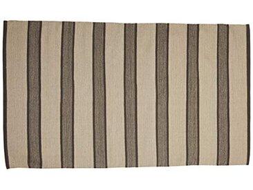 Jute & Co. Tapis Moquette, Dim. 100x 160cm, Colour-Grey, 100% Coton, Gris Clair et Gris foncé, Taille Unique