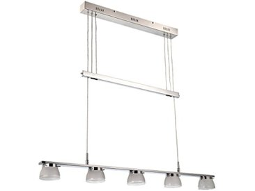 Näve Leuchten Luminaire Suspension à LED, 5, métal, 25W, chrome, 100x 9x 160cm
