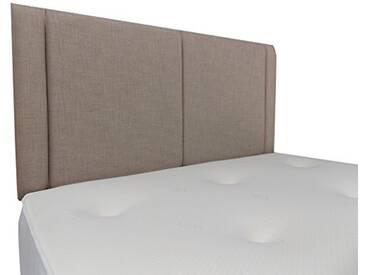 Interiors 2Combinaison U Robyn Parure de lit capitonnée, Tissu, crème, 7.5x 76x 62cm