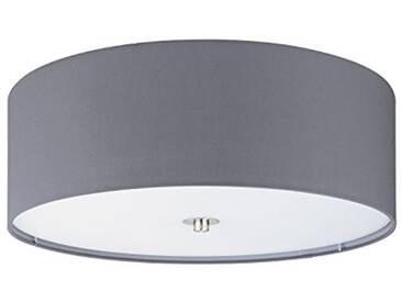 Eglo paSTERI Indoor E27Grey, nickel–Ceiling Lighting (Living room, Indoor, Grey, nickel, Surfaced, Cylinder, fabric, Glass, Steel)