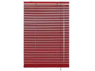 GARDINIA Store Vénitien en Aluminium, Fixation au Mur et au Plafond, Kit de Montage Inclus, Store Vénitien Aluminium, Rouge, 140 x 175 cm (LxH)