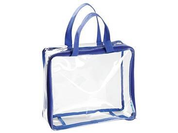 Interdesign 05031EU Nya Sac de voyage Moyen Polyvinyle Transparent/Blue Marine 27,9 x 24,1 x 8,25 cm