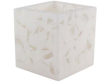 Magic Candle World Lanterns Blink Collection Lampe avec Verre Hache nertem, blanc, 11,5x 11,5x 11,5cm