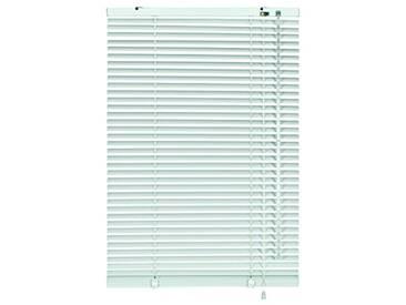 GARDINIA Store Vénitien en Aluminium, Fixation au Mur et au Plafond, Kit de Montage Inclus, Store Vénitien Aluminium, Argenté/Blanc, 100 x 140 cm (LxH)