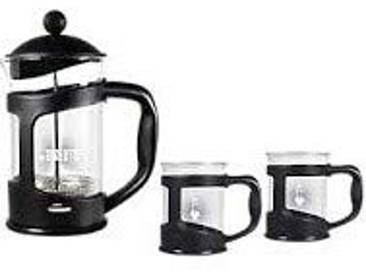 Bialetti kaffeb ereiter Coffret de 2Tasses, Verre, 30x 20x 15cm, 3unités, Verre, Noir, 30.0 x 20.0 x 15.0 cm
