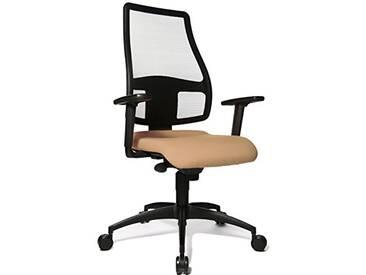 Topstar Syncro Net Chaise de Bureau avec Hauteur daccoudoirs Ajustable Marron