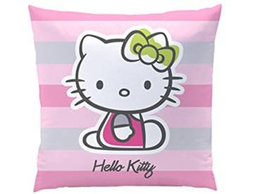 CTI 042354 Hello Kitty Mady Coussin Polyester Rose/Multicolore 40 x 40 cm