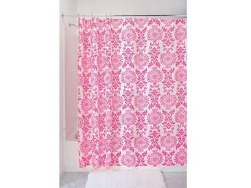 InterDesign Damask rideau douche, rideau baignoire design 183,0 cm x 183,0 cm en polyester, rideau de bain qualitatif à œillets en métal, rose